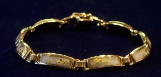 Gold and Quartz Bracelet