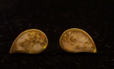 Gold and Quartz Earrings